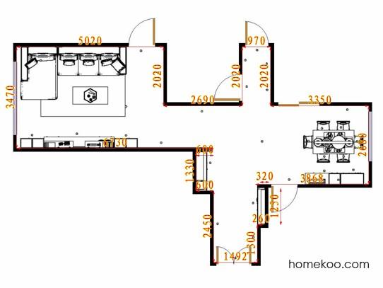 平面布置图格瑞丝系列客餐厅G17347