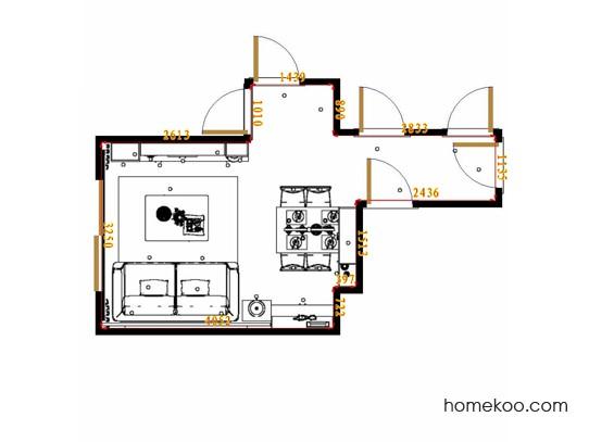 平面布置图米兰剪影客餐厅G17358