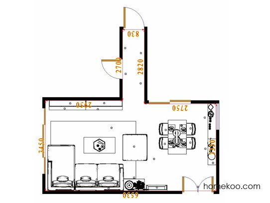平面布置图柏俪兹系列客餐厅G17368