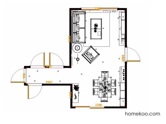 平面布置图斯玛特系列客餐厅G17372