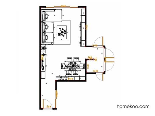 平面布置图贝斯特系列客餐厅G17376