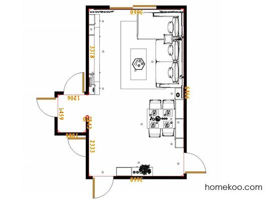 平面布置图斯玛特系列客餐厅G17383