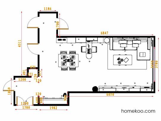 平面布置图贝斯特系列客餐厅G17392