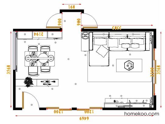 平面布置图柏俪兹系列客餐厅G17397