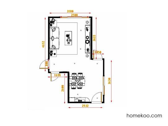 平面布置图斯玛特系列客餐厅G17414