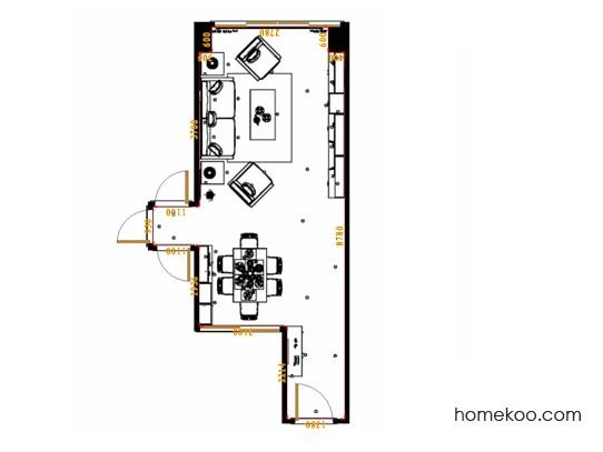 平面布置图贝斯特系列客餐厅G17417
