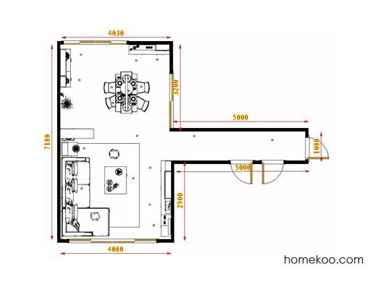 平面布置图德丽卡系列客餐厅G17424