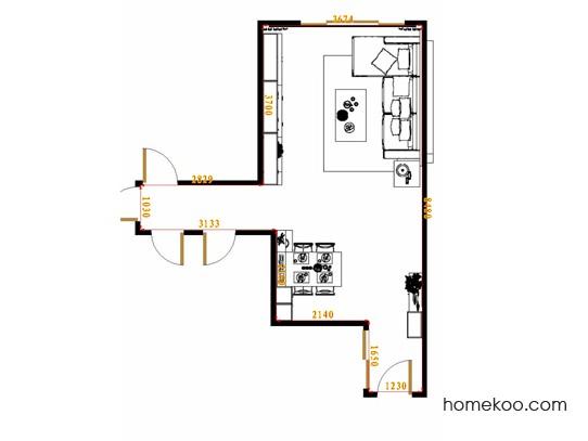 平面布置图斯玛特系列客餐厅G17433