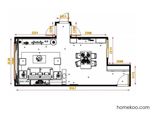 平面布置图贝斯特系列客餐厅G17435