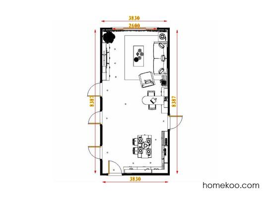 平面布置图格瑞丝系列客餐厅G17453