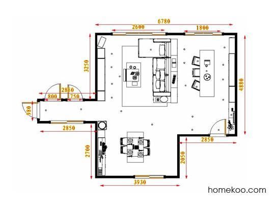 平面布置图柏俪兹系列客餐厅G17457