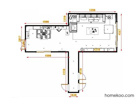 平面布置图乐维斯系列客餐厅G17458
