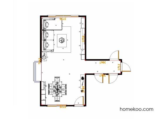 平面布置图斯玛特系列客餐厅G17476