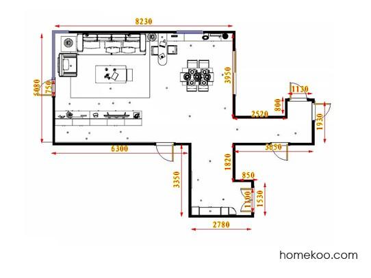 平面布置图柏俪兹系列客餐厅G17479