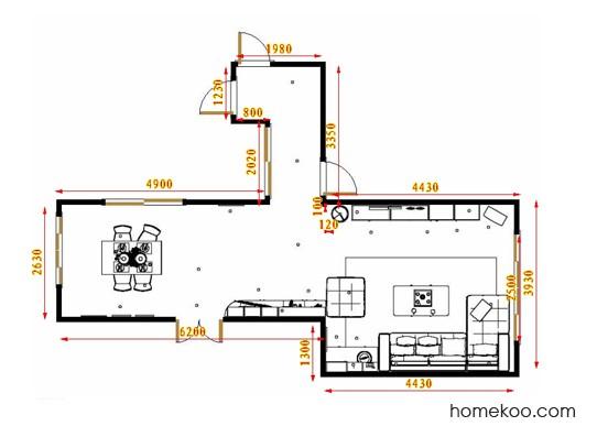 平面布置图格瑞丝系列客餐厅G17484
