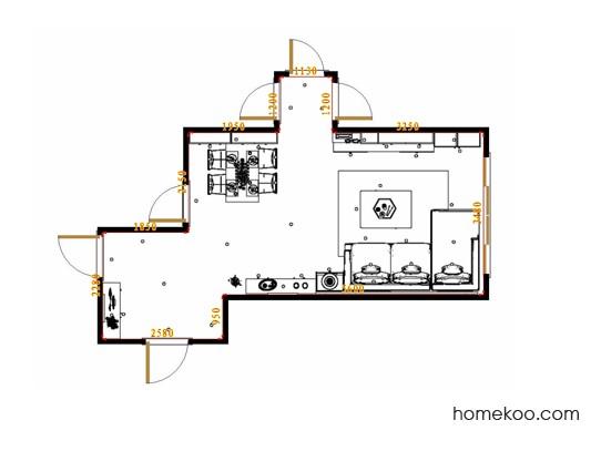 平面布置图斯玛特系列客餐厅G17485