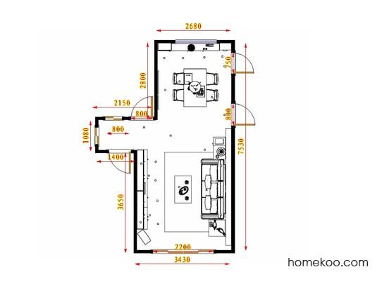 平面布置图格瑞丝系列客餐厅G17501