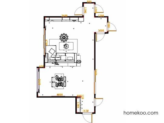 平面布置图米兰剪影客餐厅G17502