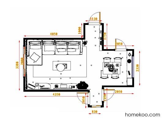 平面布置图贝斯特系列客餐厅G17507