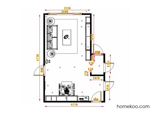 平面布置图德丽卡系列客餐厅G17520