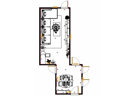 平面布置图米兰剪影客餐厅G17527
