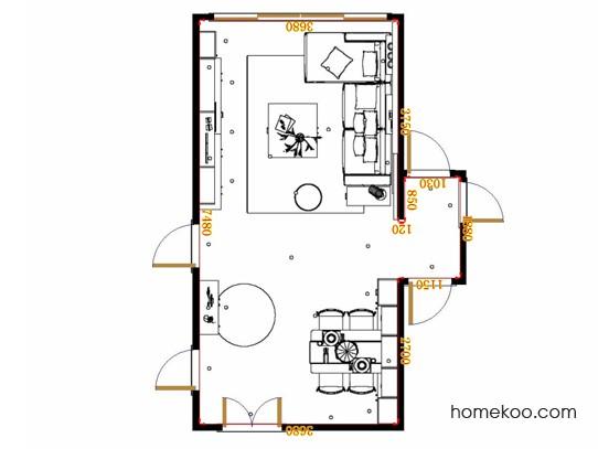 平面布置图乐维斯系列客餐厅G17529