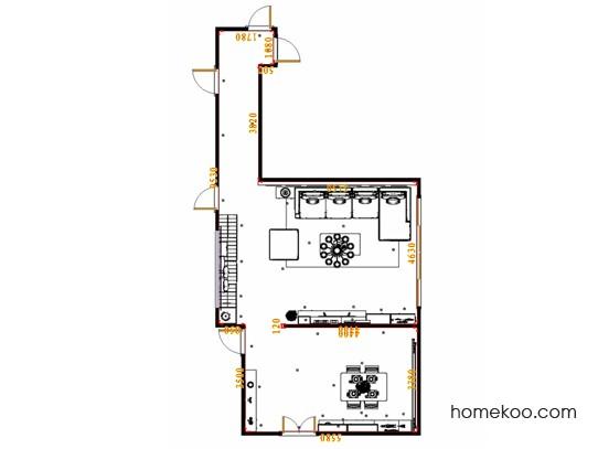 平面布置图贝斯特系列客餐厅G17530
