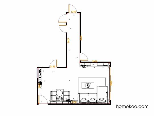 平面布置图贝斯特系列客餐厅G17537