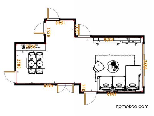 平面布置图德丽卡系列客餐厅G17570