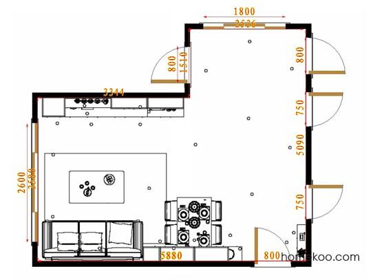 平面布置图斯玛特系列客餐厅G17571