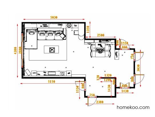 平面布置图柏俪兹系列客餐厅G17588