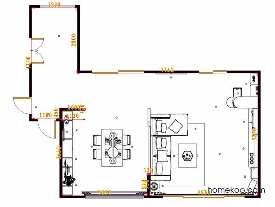 平面布置图乐维斯系列客餐厅G17594