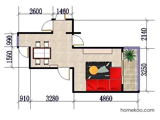 平面布置图柏俪兹系列客餐厅G0114