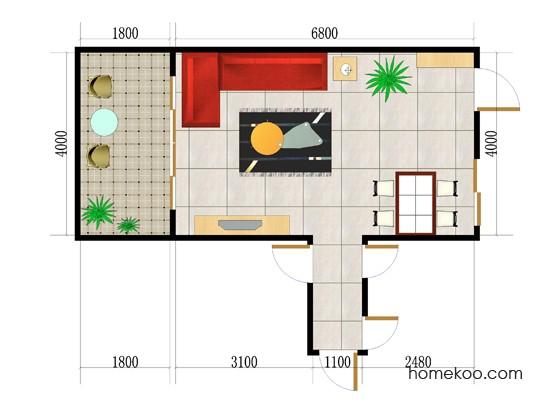 平面布置图德丽卡系列客餐厅G0036