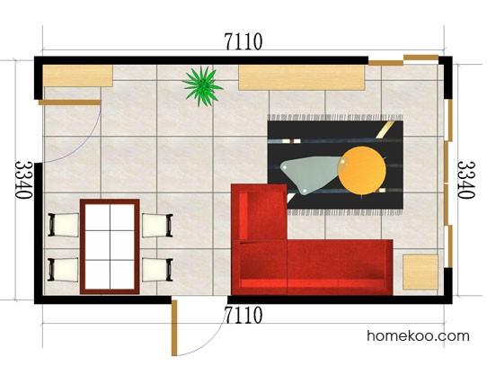 平面布置图德丽卡系列客餐厅G0044