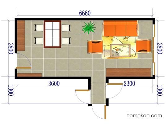平面布置图柏俪兹系列客餐厅G0046