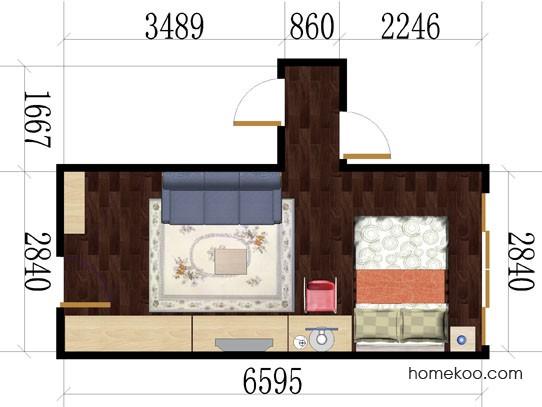平面布置图贝斯特系列卧房A2599