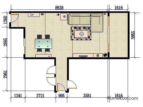 平面布置图乐维斯系列客餐厅G0074