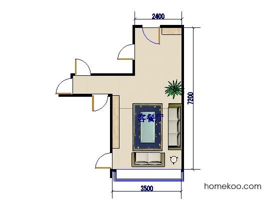 平面布置图德丽卡系列客餐厅G0076