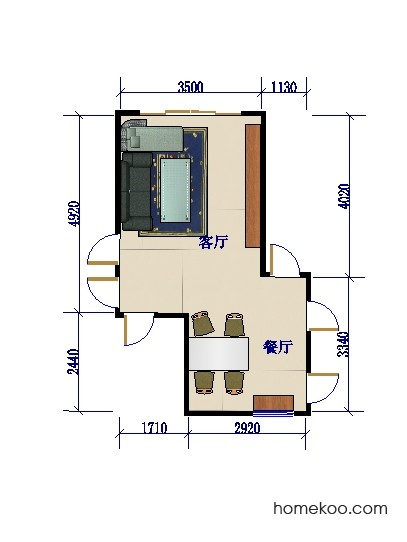 平面布置图格瑞丝系列客餐厅G0081