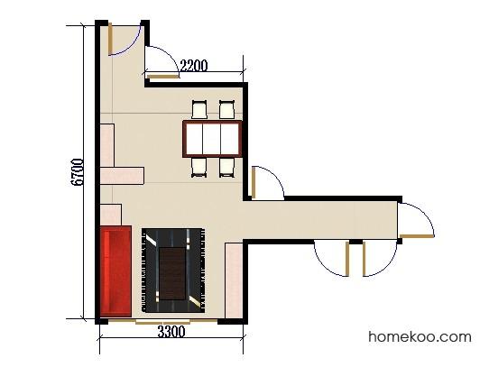 平面布置图贝斯特系列客餐厅G0098