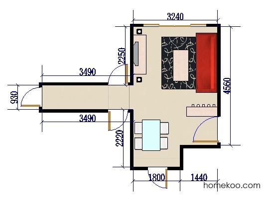 平面布置图柏俪兹系列客餐厅G0101