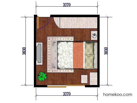 平面布置图德丽卡系列卧房A2698