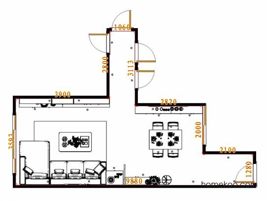 平面布置图贝斯特系列客餐厅G17909