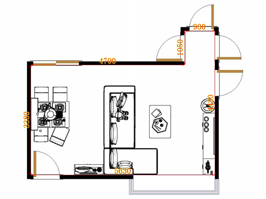 平面布置图乐维斯系列客餐厅G20210