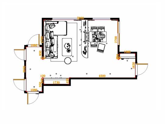 平面布置图柏俪兹系列客餐厅G20220