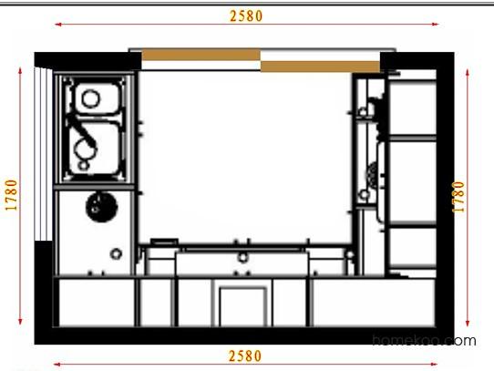 平面布置图贝斯特系列厨房F18473