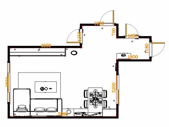 平面布置图米兰剪影客餐厅G20299