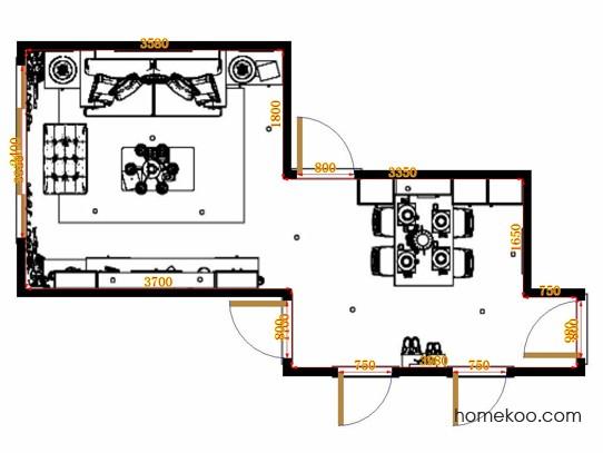 平面布置图斯玛特系列客餐厅G20375