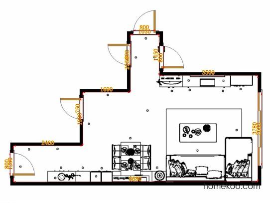 平面布置图格瑞丝系列客餐厅G20431